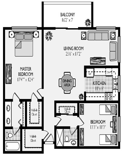 Glen Oaks Model Floorplans