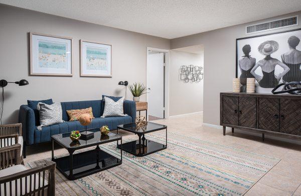 Model Apartment Living Room 3